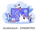 genetic engineering researcher... | Shutterstock .eps vector #1948387402