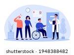 patients standing in queue in... | Shutterstock .eps vector #1948388482