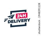 24 hours delivery flat design...   Shutterstock .eps vector #1948391128