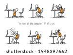 vector set of humor cartoon man ... | Shutterstock .eps vector #1948397662