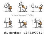 vector set of humor cartoon man ... | Shutterstock .eps vector #1948397752