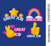 set of great job and awesome... | Shutterstock .eps vector #1948398535