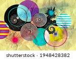 color watercolor retro... | Shutterstock . vector #1948428382