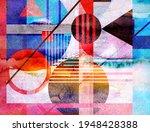 color watercolor retro... | Shutterstock . vector #1948428388
