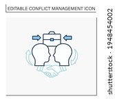 collaborating line icon.showing ... | Shutterstock .eps vector #1948454002