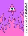 eye of providence. all seeing... | Shutterstock .eps vector #1948476262