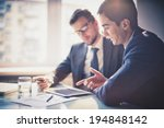 image of two young businessmen... | Shutterstock . vector #194848142