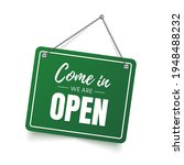 come in we are open sign.... | Shutterstock .eps vector #1948488232