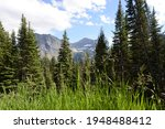 Scenic View Of Mountains And...