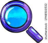 magnifier icon in watercolor... | Shutterstock .eps vector #1948503532