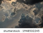Cumulus Clouds Backlit  With...