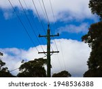 Power Lines And Telegraph Pole...