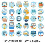 set for web and mobile... | Shutterstock .eps vector #194856062