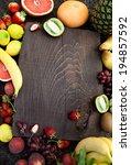 fresh fruit. fruit variety on... | Shutterstock . vector #194857592