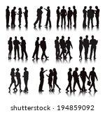 vector of multi ethnic business ... | Shutterstock .eps vector #194859092