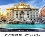 Trevi Fountain  Rome  Italy.