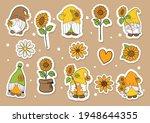 watercolor sunflower gnome... | Shutterstock .eps vector #1948644355