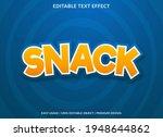 snack text effect template...   Shutterstock .eps vector #1948644862