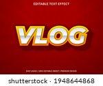 vlog text effect template...   Shutterstock .eps vector #1948644868