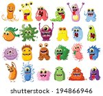cartoon cute monsters and... | Shutterstock .eps vector #194866946