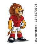 lion illustration for soccer... | Shutterstock .eps vector #1948670905