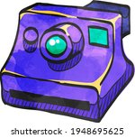 instant camera icon in color... | Shutterstock .eps vector #1948695625