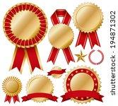 rosette set   Shutterstock .eps vector #194871302