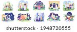 set bundle of ramadhan concept... | Shutterstock .eps vector #1948720555