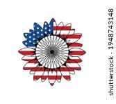 american flag sunflower ...   Shutterstock .eps vector #1948743148