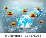 social media social network... | Shutterstock . vector #194876096