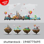 travel and tourism background... | Shutterstock .eps vector #1948775695