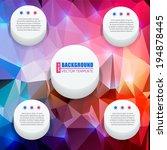 abstract creative concept... | Shutterstock .eps vector #194878445