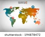 abstract creative concept... | Shutterstock .eps vector #194878472