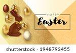 happy easter lettering... | Shutterstock .eps vector #1948793455