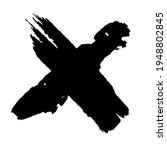 crossed paint strokes. black... | Shutterstock .eps vector #1948802845