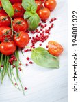 tomatoes  chives  peppers ... | Shutterstock . vector #194881322