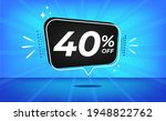 40  off. blue banner with forty ... | Shutterstock .eps vector #1948822762