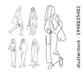fashion sketch set vector... | Shutterstock .eps vector #1948835482