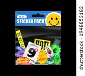 sticker pack. packaging with... | Shutterstock .eps vector #1948853182