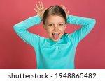 little beautiful baby girl pink ... | Shutterstock . vector #1948865482