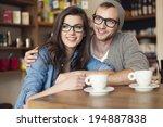 embracing couple spending... | Shutterstock . vector #194887838