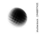 halftone sphere dotted vector... | Shutterstock .eps vector #1948897435