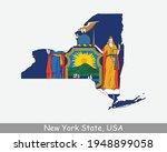 new york state map flag. map of ...   Shutterstock .eps vector #1948899058