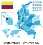 colombia detailed... | Shutterstock .eps vector #1948905532