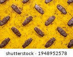 Yellow Sheet Metal Texture With ...