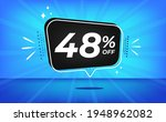 48  off. blue banner with forty ... | Shutterstock .eps vector #1948962082