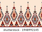 beautiful ethnic abstract ikat... | Shutterstock .eps vector #1948992145