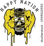 happy nation slogan print... | Shutterstock .eps vector #1949010592