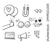 hand drawn doodle set of...   Shutterstock .eps vector #1949021335