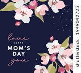 mother's day greeting card with ...   Shutterstock .eps vector #1949042725